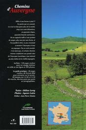 **Chemins D Auvergne - 4ème de couverture - Format classique