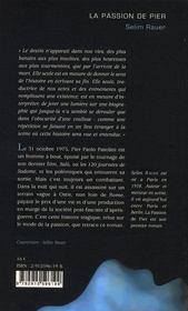 La passion de pier - 4ème de couverture - Format classique