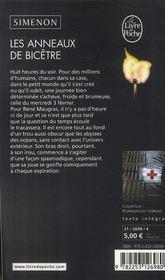 Les anneaux de Bicêtre - 4ème de couverture - Format classique