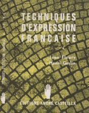 Techniques d'expression française - Couverture - Format classique