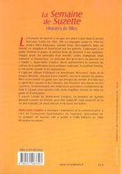 Semaine De Suzette (La) - 4ème de couverture - Format classique