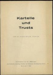 KARTELLE UND TRUSTS; n° 2 & 3 - 1952, Sonderabdruck aus den
