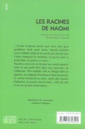 Les racines de naomi - 4ème de couverture - Format classique