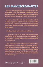 Manuscronautes/secret de gueule d'or (les) - 4ème de couverture - Format classique