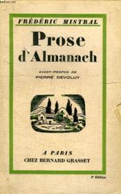 Prose D Almanach. - Couverture - Format classique