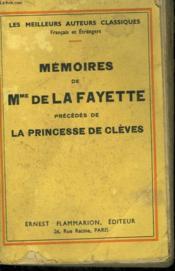 Memoires De Mme De La Fayette Precedes De La Princesse De Cleves. - Couverture - Format classique