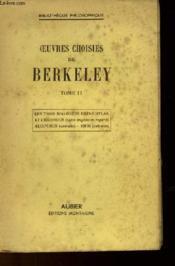 Oeuvres Choisies De Berkeley - Tome 2 - Couverture - Format classique
