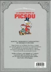 La grande épopée de Picsou ; INTEGRALE VOL.7 ; le retour du chevalier noir et autres histoires - 4ème de couverture - Format classique