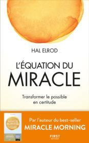 L'équation du miracle - Couverture - Format classique