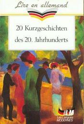 20 kurzgeschichten des 20 jahrhunderts - Intérieur - Format classique