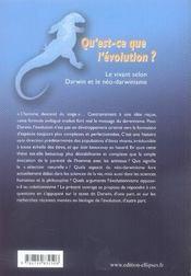 Qu'est-ce que l'évolution ? le vivant selon darwin et le néo-darwinisme - 4ème de couverture - Format classique