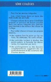 L'Enfant - Parcours De Lecture - 4ème de couverture - Format classique