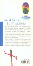 Le Prophete - 4ème de couverture - Format classique