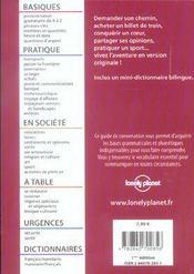Guide De Conversation ; Mandarin - 4ème de couverture - Format classique