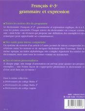 Grammaire Et Expression - 4ème de couverture - Format classique