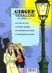 Ginger Les yeux de feu - 4ème de couverture - Format classique