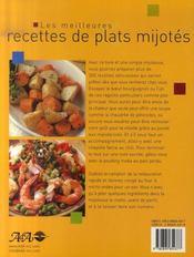 Meilleures recettes de plats mijotés - 4ème de couverture - Format classique