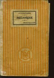 MECANIQUE (mathématique A-B) - Couverture - Format classique