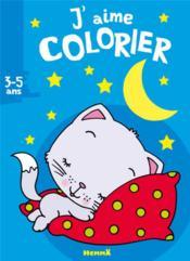 J'AIME COLORIER ; chaton ; 3/5 ans - Couverture - Format classique