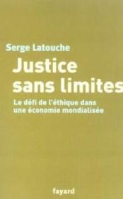 Justice sans limites - Couverture - Format classique