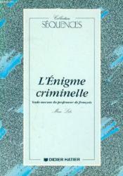 L'Enigme Criminelle Guide Pedagogique - Couverture - Format classique