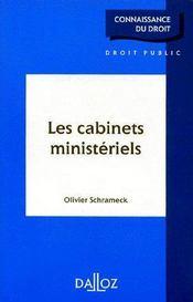 Les cabinets ministériels - Couverture - Format classique
