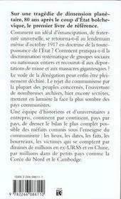 Le Livre Noir Du Communisme - 4ème de couverture - Format classique