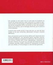 Dictionnaire De Biologie Cellulaire - 4ème de couverture - Format classique