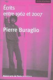 Écrits entre 1962 et 2007 - Intérieur - Format classique