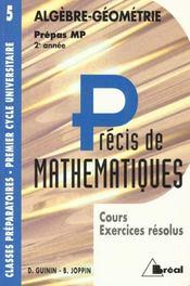 Precis de maths t. 5 algebre geometrie mp - Intérieur - Format classique