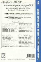 Precis de maths t. 5 algebre geometrie mp - 4ème de couverture - Format classique