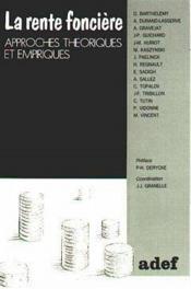 La Rente Fonciere - Couverture - Format classique