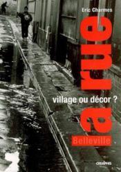 La rue, village ou décor ? - Couverture - Format classique