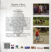 Tagadirt el bour ; un printemps dans le haut atlas - 4ème de couverture - Format classique