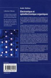 Électronique et optoélectronique organiques - 4ème de couverture - Format classique