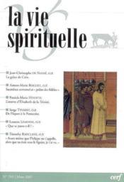 La Vie Spirituelle Vs769 - Couverture - Format classique
