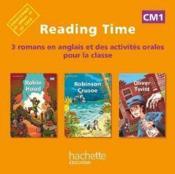 READING TIME ; Robin Hood, Robinson Crusoe, Oliver Twist ; CM1 ; CD audio de la classe - Couverture - Format classique