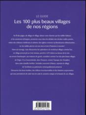 Les 100 plus beaux villages de nos régions ; le guide - 4ème de couverture - Format classique
