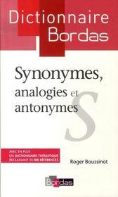 Dictionnaire Bordas des synonymes, analogies et antonymes - Intérieur - Format classique