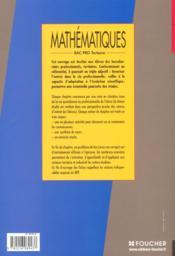 Maths Bac Pro Tertiaires - 4ème de couverture - Format classique