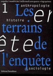 Revue Enquete 01 - Les Terrains De L'Enquete - Couverture - Format classique