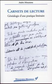 Carnets de lecture ; généalogie d'une pratique littéraire - Couverture - Format classique