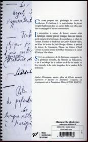Carnets de lecture ; généalogie d'une pratique littéraire - 4ème de couverture - Format classique