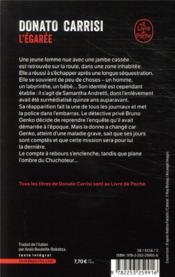 L'égarée - 4ème de couverture - Format classique