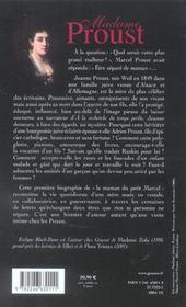 Madame Proust - 4ème de couverture - Format classique