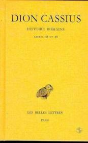 Histoire romaine , livre 48-49 - Couverture - Format classique