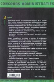 La Filiere Medico-Sociale Territoriale Categories A Et B Concours Externe Et Interne - 4ème de couverture - Format classique