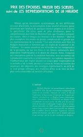 Prix Des Epouses, Valeur Des Soeurs ; Les Representations De La Maladie - 4ème de couverture - Format classique