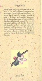 Le Pommier - 4ème de couverture - Format classique