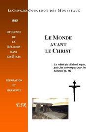 Le Monde Avant Le Christ - Couverture - Format classique